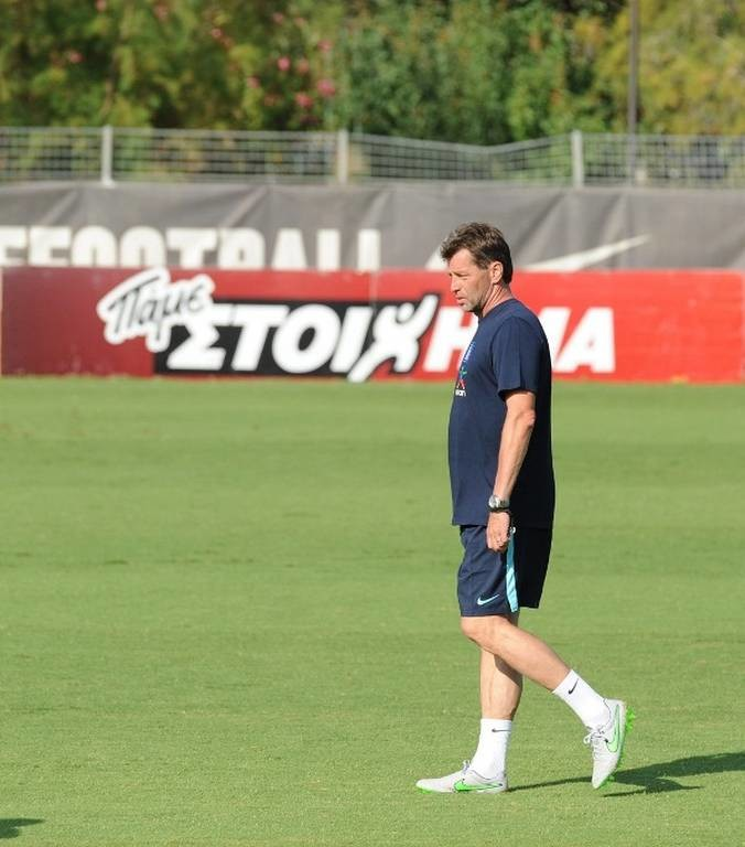 Ο προπονητής της Εθνικής Ομάδας Μίκαελ Σκίμπε