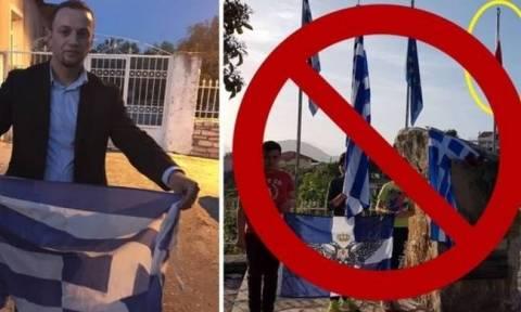 Συνελήφθη ο Αλβανός εθνικιστής που ποδοπατούσε και έκαιγε ελληνικές σημαίες