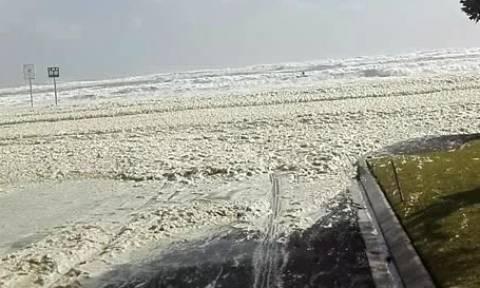 Επαθαν σοκ όταν είδαν την... άμμο να κινείται έξω απ' τη θάλασσα (video)