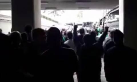Ολυμπιακός – Παναθηναϊκός : Χαμός στο ΟΑΚΑ πριν την αναχώρηση του Παναθηναϊκού Superfoods (vids)