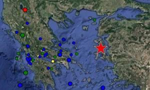 Σεισμός 6,2 τώρα μεταξύ Χίου - Μυτιλήνης: Έγινε αισθητός και στην Αθήνα