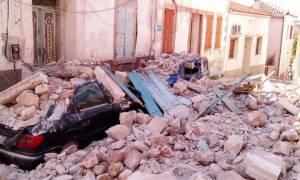 Σεισμός Μυτιλήνη: Ερείπια στο Πλωμάρι – Αποκλεισμένοι δρόμοι λόγω κατολισθήσεων