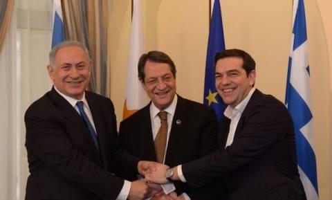 Τριμερής συνάντηση κορυφής Ελλάδας - Κύπρου - Ισραήλ