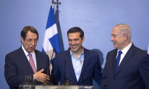 Τριμερής Ελλάδα Ισραήλ Κύπρος - Τσίπρας: Συνεργασία για την ειρήνη και την ασφάλεια της περιοχής