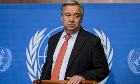 Ο Γκουτέρες ελπίζει να αποκλιμακωθεί η ένταση μεταξύ ΗΠΑ και Ρωσίας για τη Συρία