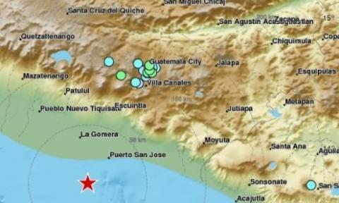 Ισχυρή σεισμική δόνηση 6.8 Ρίχτερ στη Γουατεμάλα