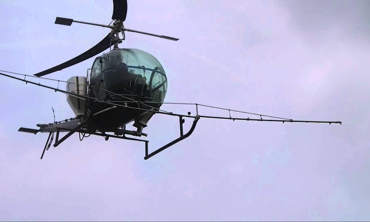 Έπεσε ελικόπτερο στον Σχοινιά