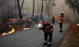 Πορτογαλία: Η συγκλονιστική φωτογραφία των εξαντλημένων πυροσβεστών μετά τη μάχη με τις φλόγες