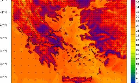 Καιρός - Καύσωνας: Πάνω από την Ελλάδα η αφρικανική «λάβα» - «Φούρνος» η χώρα για 100 ώρες