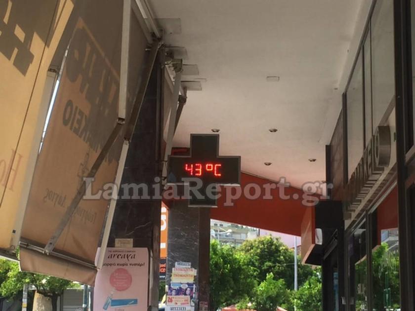 Καύσωνας: Στους 43°C ο υδράργυρος στη Λαμία!