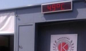 Καύσωνας: Απίστευτο! Το θερμόμετρο στο ΟΑΚΑ έδειξε 49 βαθμούς! (pics)