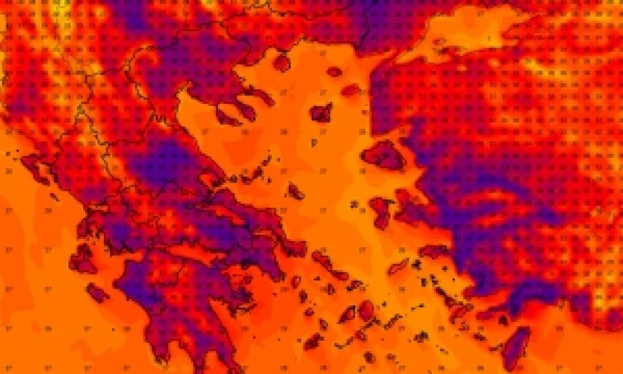 Καιρός - Καύσωνας: Δες LIVE τι θερμοκρασία έχει ΤΩΡΑ στην περιοχή σου
