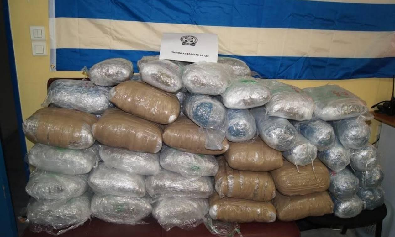 Άρτα: «Μπλόκο» της Αστυνομίας σε 75 κιλά κάνναβης (pics)