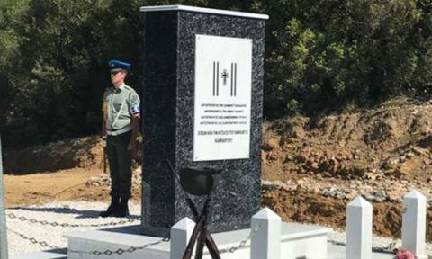 Σαραντάπορο Ελασσόνας: Μνημείο πεσόντων για τα στελέχη που έπεσαν εν ώρα καθήκοντος
