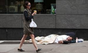 ΗΠΑ: Οι άστεγοι αυξήθηκαν κατά 39% μέσα σε έναν χρόνο στη Νέα Υόρκη