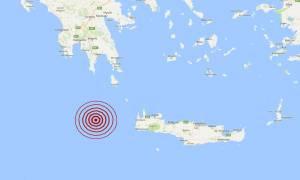 Σεισμός δυτικά της Κρήτης (pic)