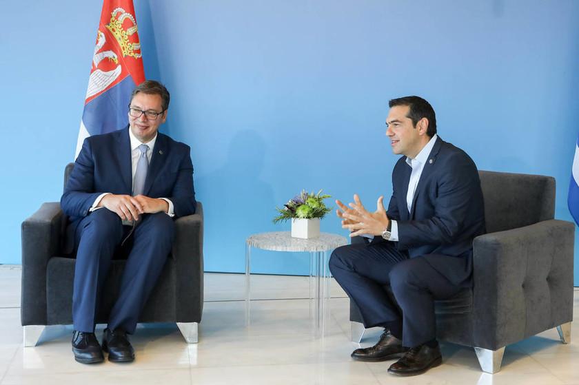 Τετ - α - τετ Τσίπρα με τον πρόεδρο της Σερβίας στη Θεσσαλονίκη