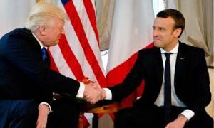 Γαλλία: Ο Μακρόν υποδέχτηκε τον Τραμπ στο Μνημείο των Απομάχων (vid)