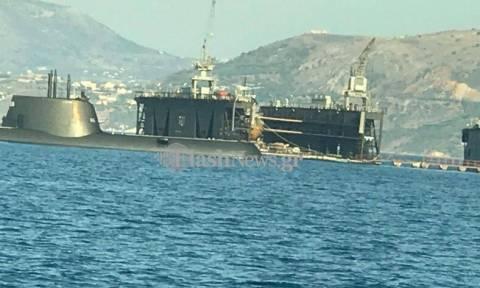 Στη Σούδα το υποβρύχιο Παπανικολής –Σε επιφυλακή για την κυπριακή ΑΟΖ