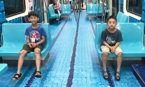 Στην Ταϊπέι της Ταϊβάν μετέτρεψαν βαγόνια του μετρό σε... αθλητικά γήπεδα! (pics)