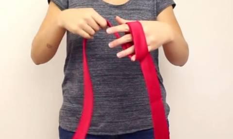 Μάθε να δένεις γραβάτα με μόνο δύο κινήσεις (video)