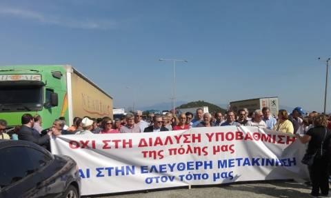 Καβάλα: Αποκλεισμός της Εγνατίας σε διαμαρτυρία για νέο σταθμό διοδίων
