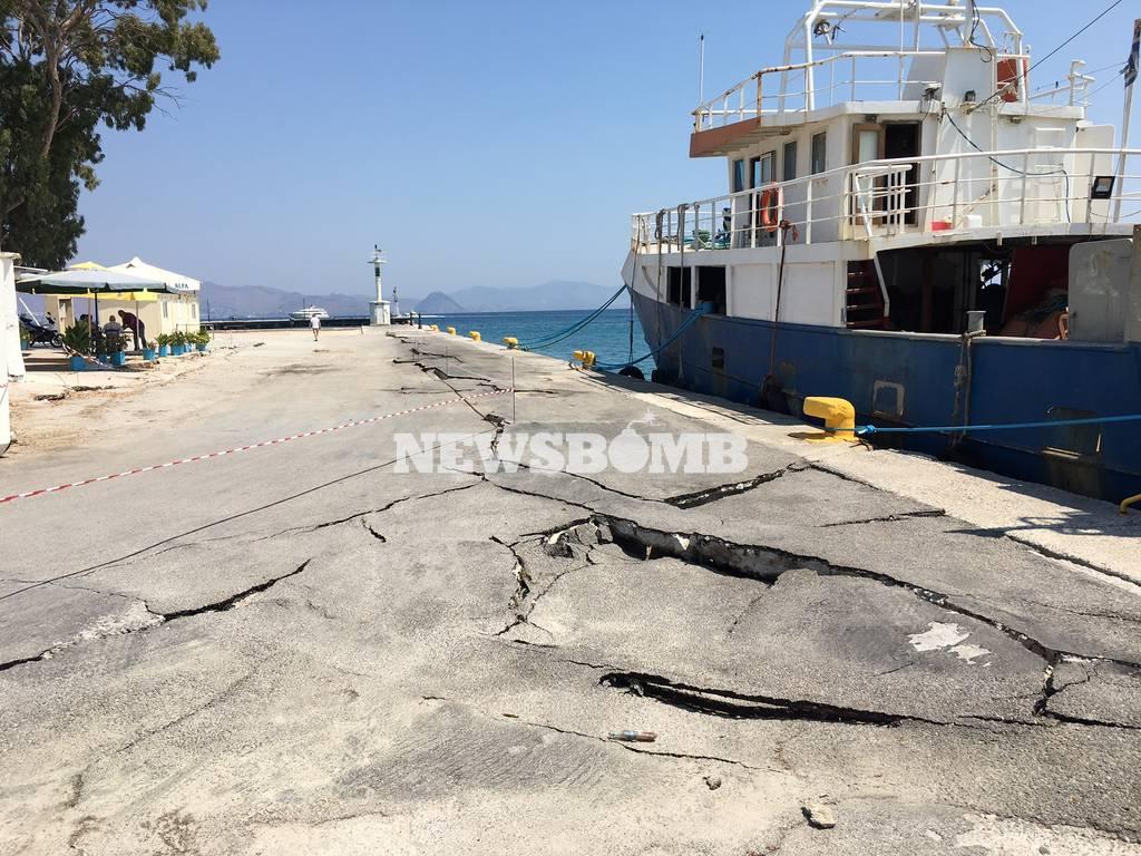 Σεισμός Κως: Oι έλεγχοι διαβατηρίων γίνονται σε επικίνδυνο σημείο με ρωγμές