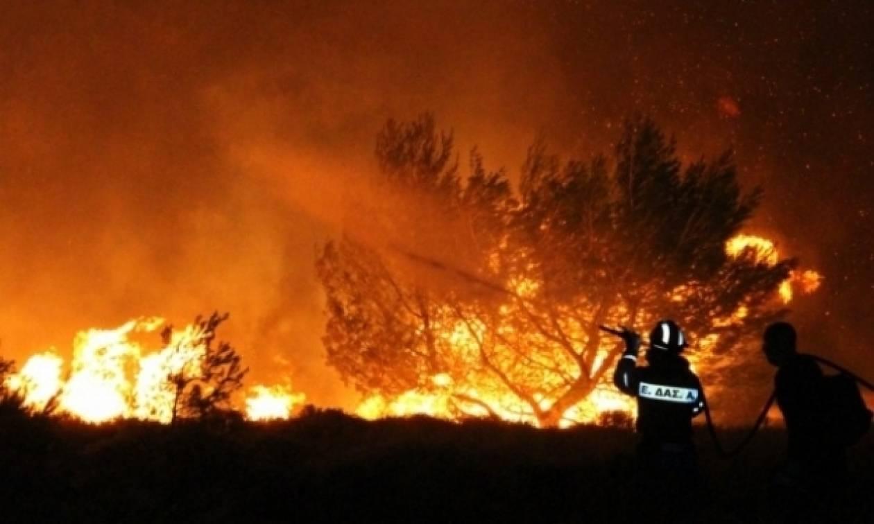 Ζάκυνθος: Μαίνεται η μεγάλη πυρκαγιά στο χωριό Λαγοπόδο