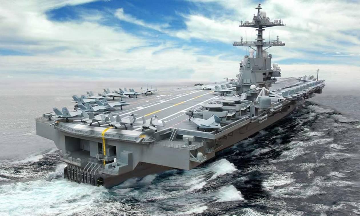 Σοκ! Δείτε το νέο αεροπλανοφόρο του Τραμπ που προκαλεί τρόμο (Pics+Vid)