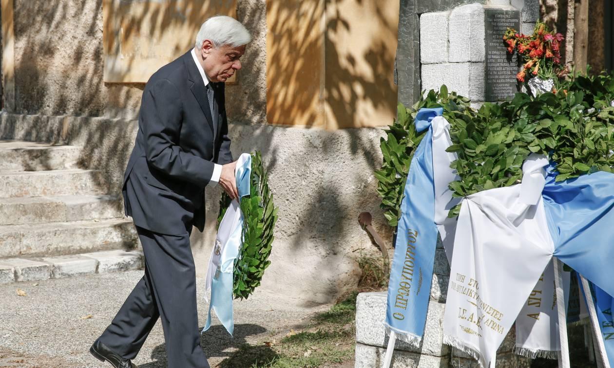 Αποκατάσταση Δημοκρατίας: Τιμές στον Σπύρο Μουστακλή απέδωσε ο Προκόπης Παυλόπουλος