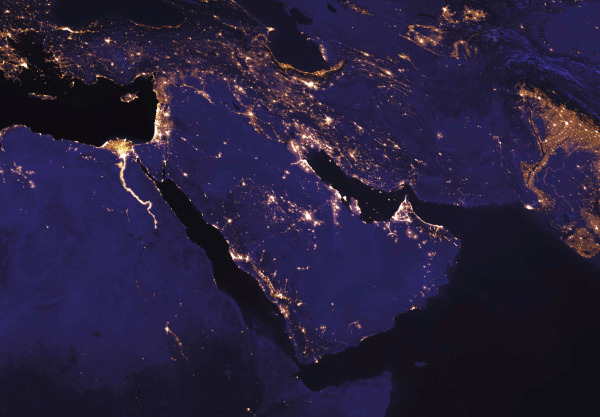040 middle east night sky