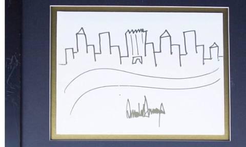 Δημοπρατείται σκίτσο της Νέας Υόρκης με την υπογραφή του Ντόναλντ Τραμπ (photo)