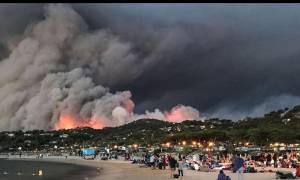 «Πύρινη κόλαση» στη Γαλλία: Φεύγουν άρον άρον χιλιάδες τουρίστες (pics+vid)