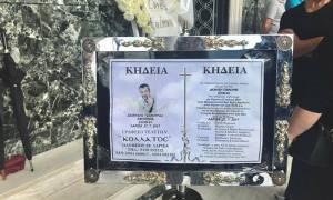 Πτώση αεροσκάφους στη Λάρισα: Βουβός πόνος στην κηδεία του Διονύση Τσεκούρα