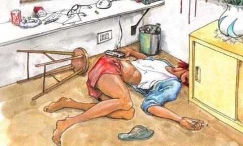 Δολοφονία ή αυτοκτονία; Το σκίτσο που έχει διχάσει τους πάντες