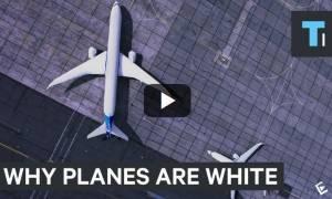 Γνωρίζετε γιατί τα περισσότερα αεροπλάνα έχουν άσπρο χρώμα; (video)