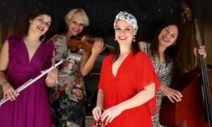 Πανσέληνος στο Νομισματικό Μουσείο με την Ανδριάνα Μπάμπαλη Quarderinas Quartet
