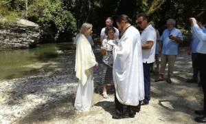 Από την Αυστραλία ήρθε στην Ελλάδα για να βαπτιστεί Χριστιανή Ορθόδοξη (pics)