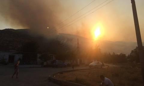 Φωτιά ΤΩΡΑ: Σε πύρινο κλοιό 10 ελληνικά χωριά στην Αλβανία - Βοήθεια έστειλε η Ελλάδα (pics&vids)