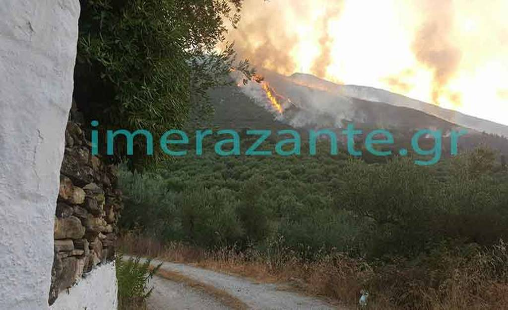 Φωτιά ΤΩΡΑ: Μαίνεται το πύρινο μέτωπο στη Ζάκυνθο (pics&vids)