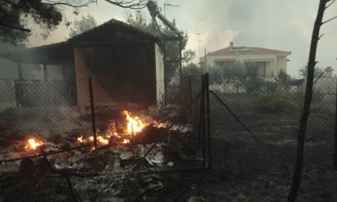 Φωτιά Κάλαμος - Δραματική έκκληση: Εκκενώστε άμεσα όλους τους οικισμούς των Αγίων Αποστόλων
