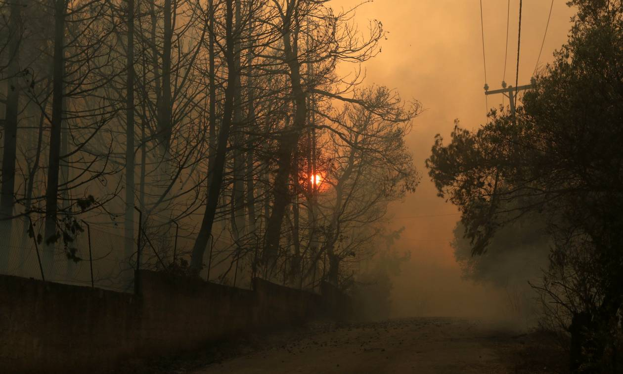 «Κόλαση» φωτιάς σε Κάλαμο και Καπανδρίτι – Ολονύχτια μάχη με τις φλόγες