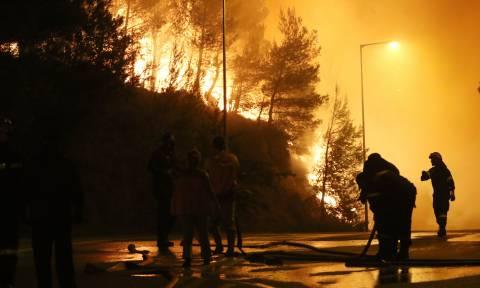 Φωτιά LIVE: Παραδομένη στις φλόγες η Αττική - Ολονύχτια μάχη με τις αναζωπυρώσεις