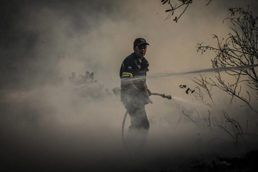 Φωτιά Κάλαμος: Οι αφανείς ήρωες της πύρινης κόλασης (pics)