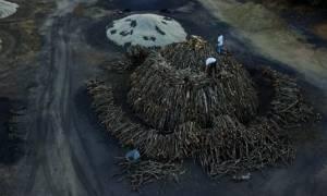 Βήσσανη: Τα παραδοσιακά καμίνια ξυλοκάρβουνου (pics)