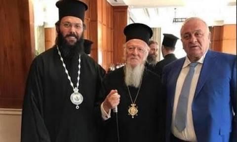 Συνάντηση του Πατριάρχη Βαρθολομαίου με τον επιχειρηματία Παντελή Μπούμπουρα στη Βουδαπέστη