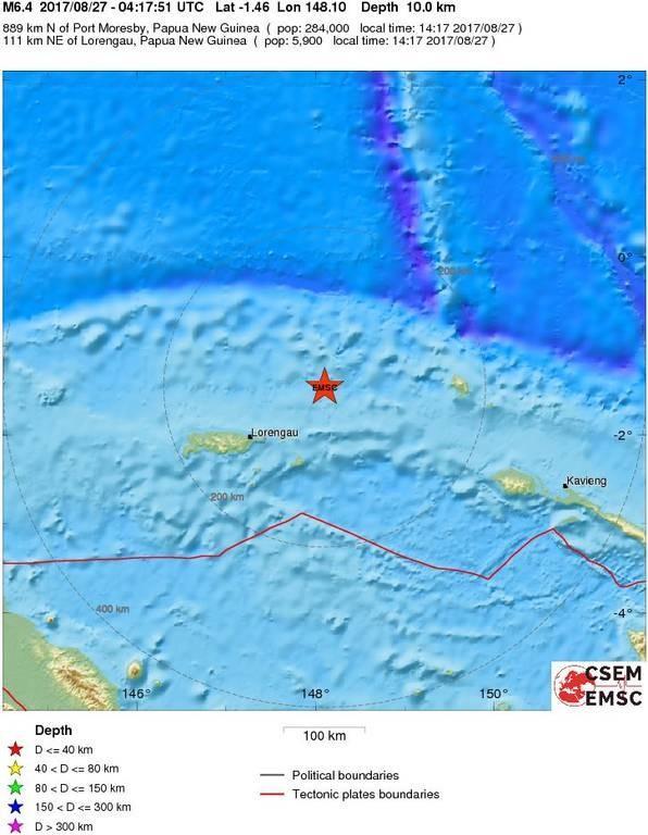 Ισχυρός σεισμός 6,6 Ρίχτερ ΤΩΡΑ στην Παπούα Νέα Γουινέα