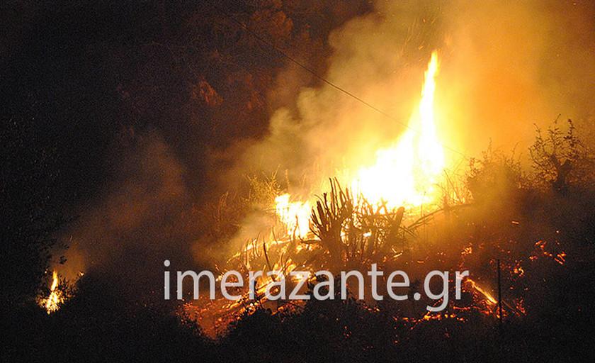 Φωτιά ΤΩΡΑ: Σε πύρινο κλοιό η Ζάκυνθος - Τρεις νέες εστίες ξέσπασαν το βράδυ στις Μαριές