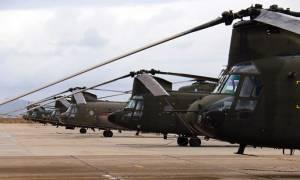 Περισσότερες από 250 ώρες πτήσης συμπλήρωσαν τον Αύγουστο τα Σινούκ της Αεροπορίας Στρατού