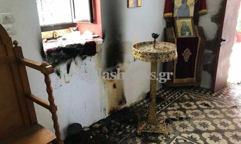 Χανιά: Υποψίες για εμπρησμό στο εκκλησάκι των Αγ. Αποστόλων -  Τα ίχνη που προκαλούν προβληματισμό
